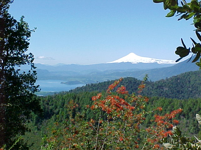 "A ""coloured"" view of the Villarica volcano"